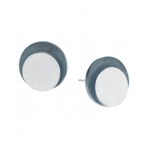 eclipse large circle post earrings