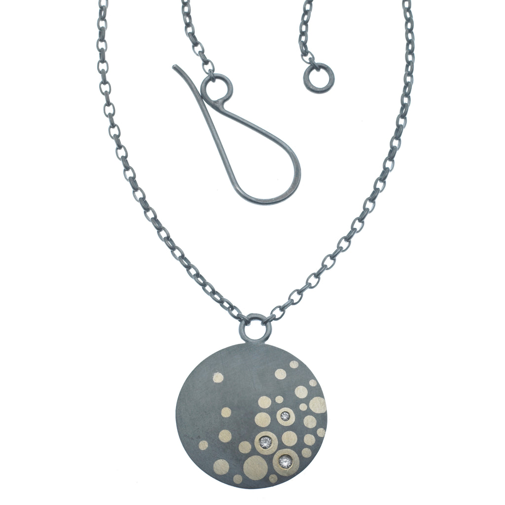 scribble circle bubble necklace