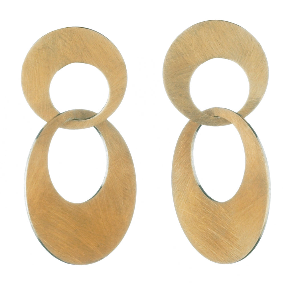 interlocking small circle earrings