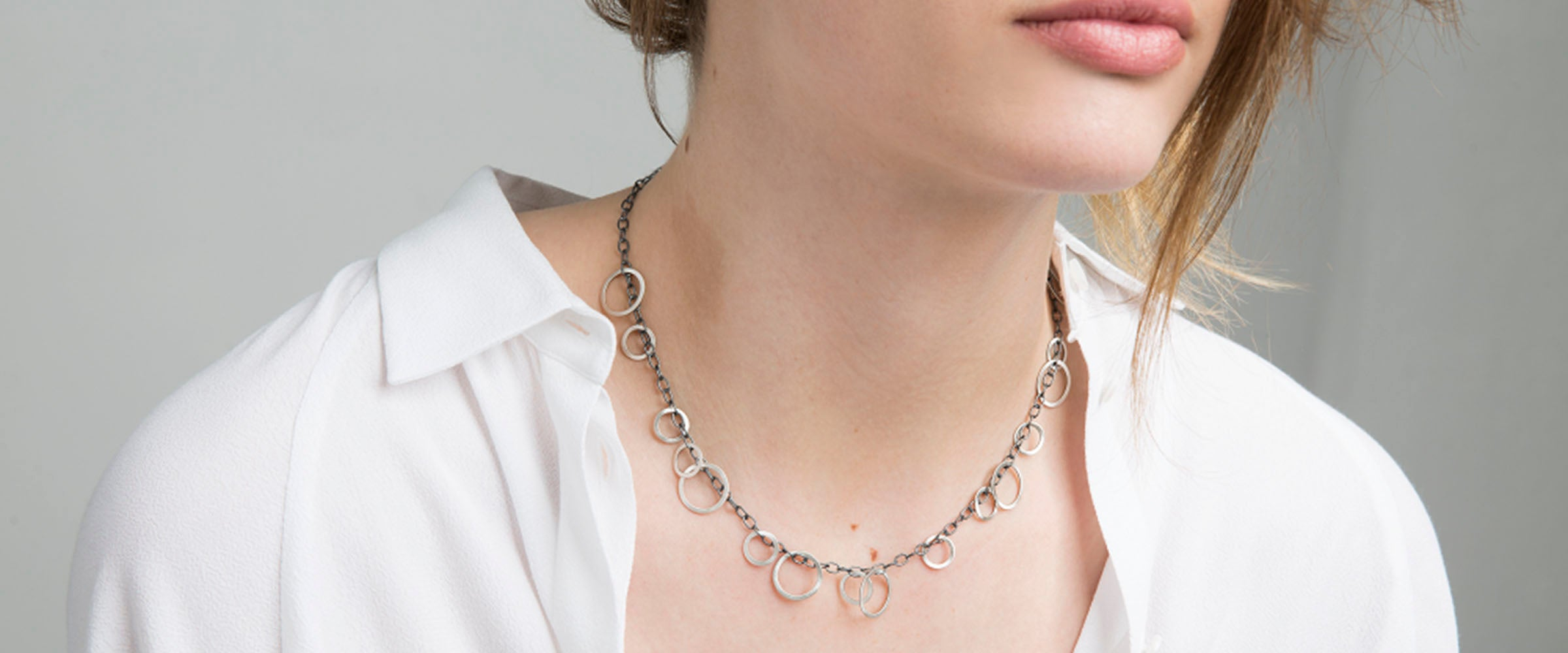necklace on model