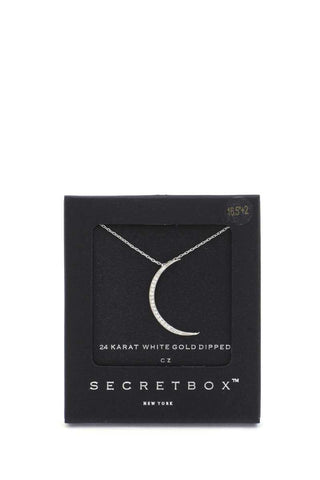 Secret Box Crescent Moon Pendant Necklace