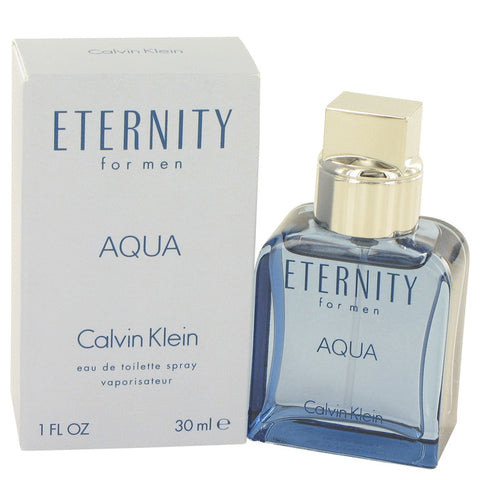 Eternity Aqua by Calvin Klein Eau De Toilette Spray 1 oz for Men