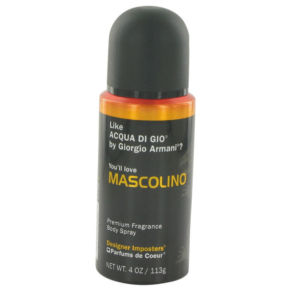 Designer Imposters Mascolino by Parfums De Coeur Body Spray 4 oz