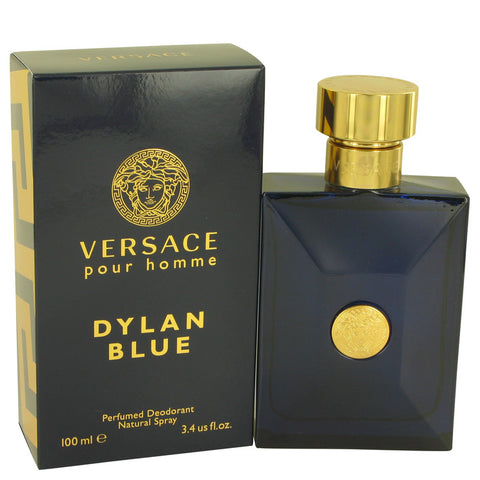 Versace Pour Homme Dylan Blue by Versace Deodorant Spray 3.4 oz