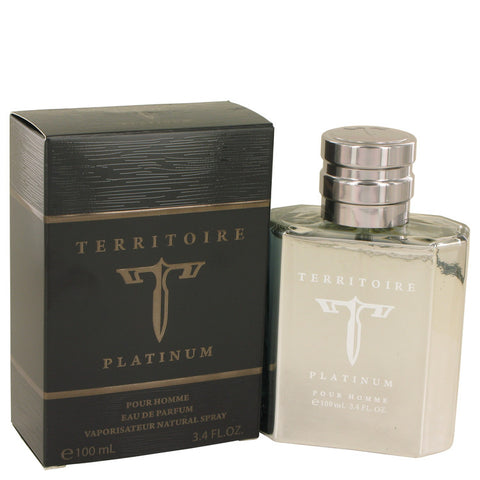 Territoire Platinum by YZY Perfume Eau De Parfum Spray 3.4 oz for Men