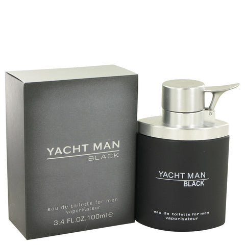 Yacht Man Black by Myrurgia Eau De Toilette Spray (unboxed) 3.4 oz for Men