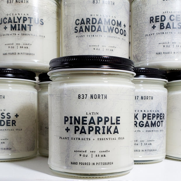 Pineapple + Paprika, 9 oz. Soy Candle