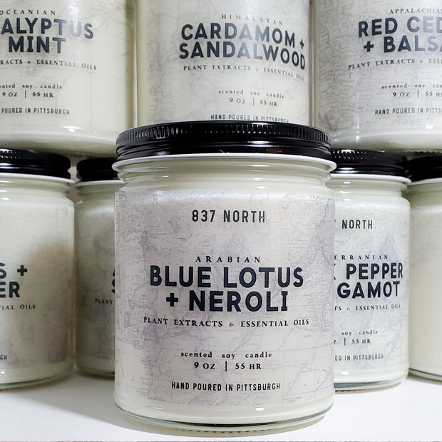Blue Lotus + Neroli, 9 oz. Soy Candle