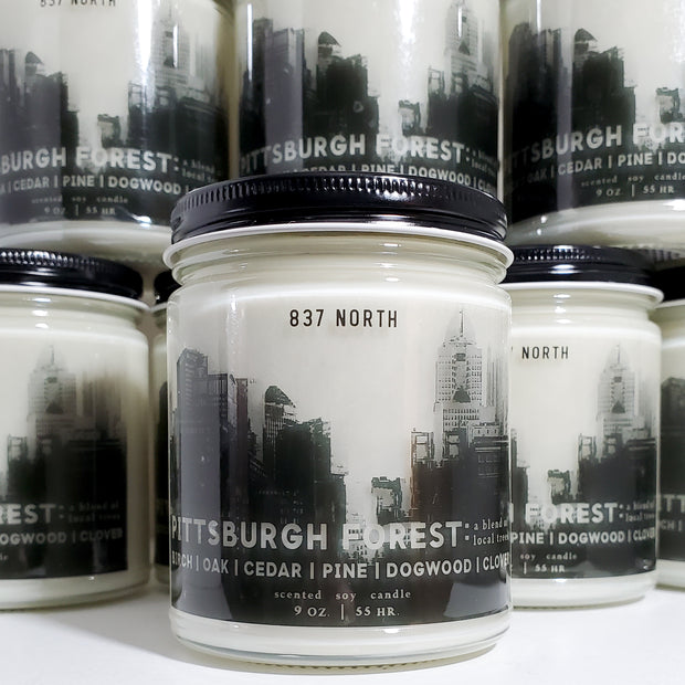 Pittsburgh Forest, 9 oz. Organic Soy Candle
