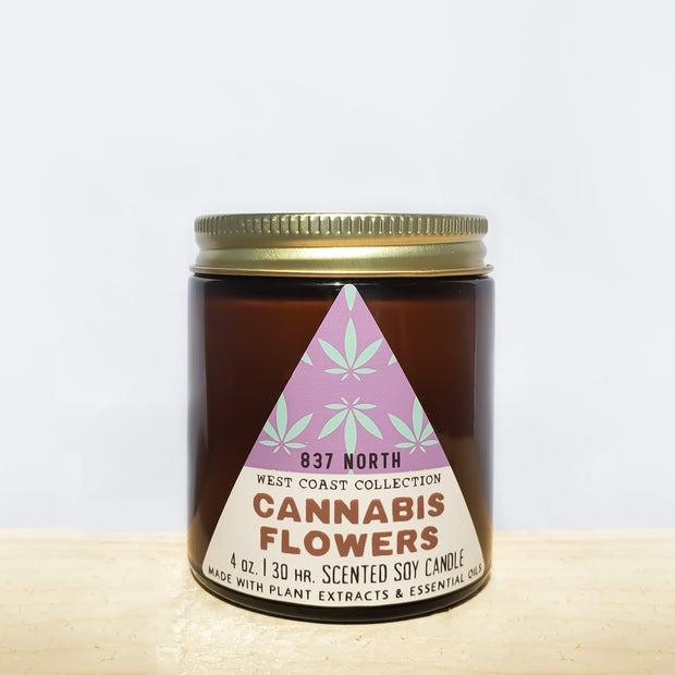 Cannabis Flowers, 4 oz. Soy Candle