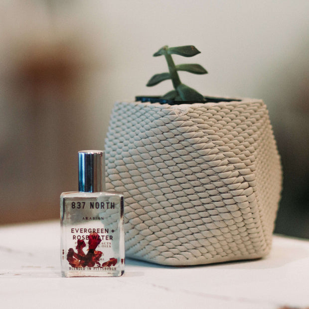 Evergreen + Rosewater, 15 ml. Unisex Perfume