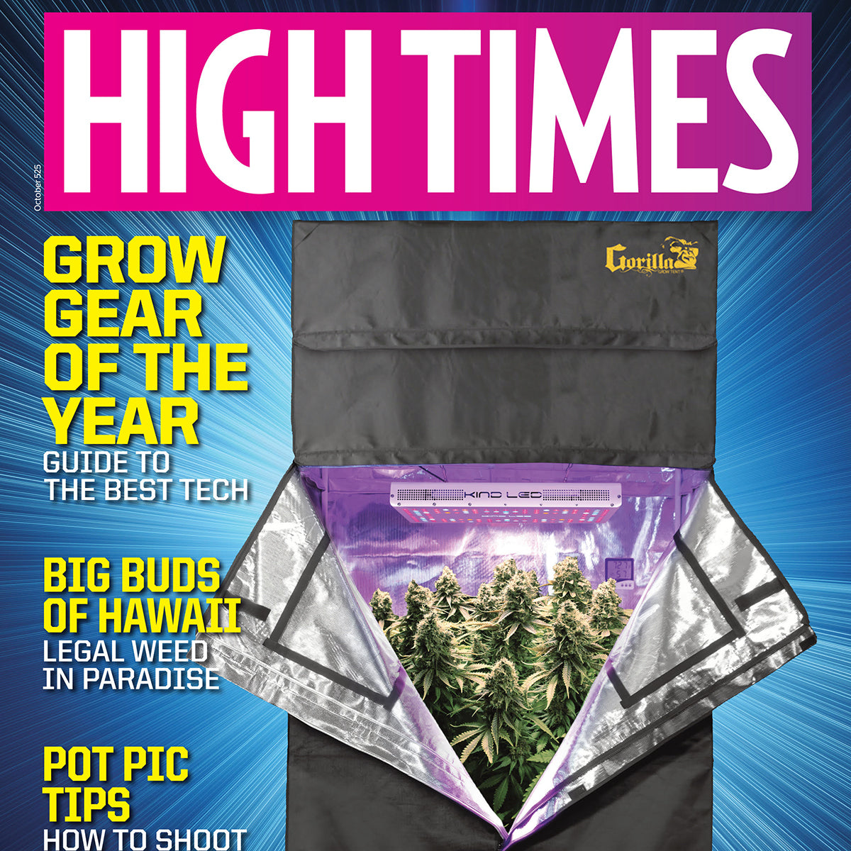Kind LED Grow Lights Featured on the Cover of High Times