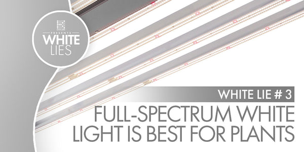 White Lie #3: Full-Spectrum white light is the best for your plants