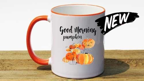 Orange Accent Mugs in Stock!