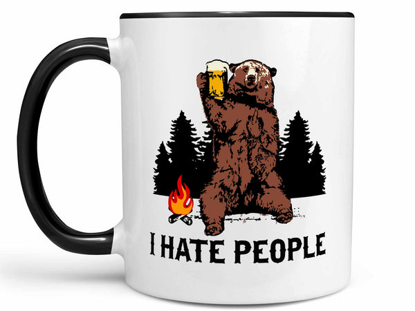 I Hate People Bear Coffee Mug
