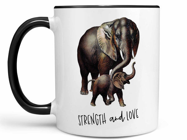 Strength and Love Elephant Coffee Mug,Coffee Mugs Never Lie,Coffee Mug