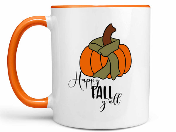 Happy Fall Y'all Pumpkin Coffee Mug