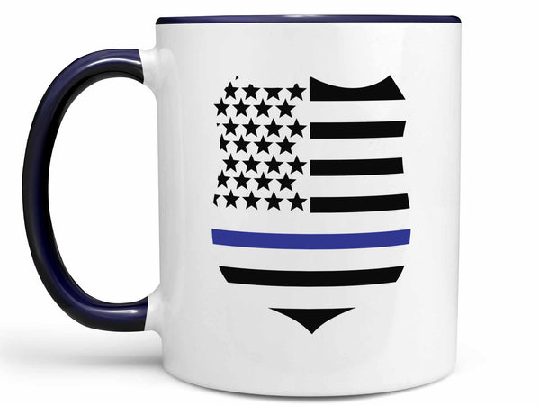 Blue Thin Line Coffee Mug