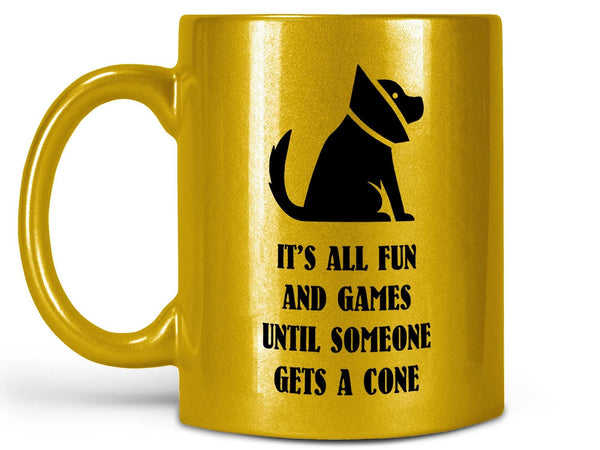 Fun and Games Dog Cone Coffee Mug,Coffee Mugs Never Lie,Coffee Mug