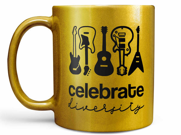 Celebrate Diversity Guitar Coffee Mug