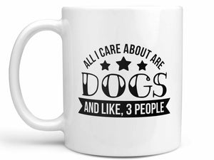 Dogs and Three People Coffee Mug