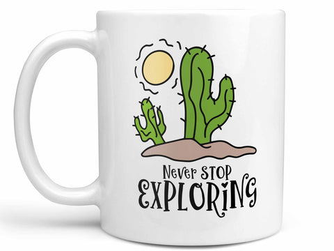 Never Stop Cactus Coffee Mug