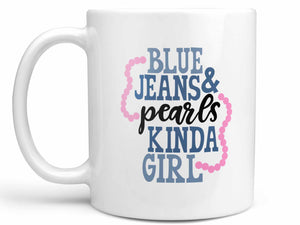 Blue Jeans and Pearls Coffee Mug