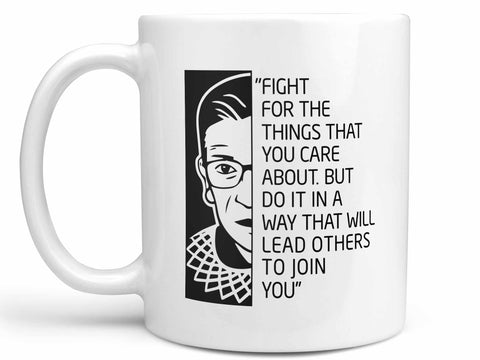 Ruth Bader Ginsburg Quote Coffee Mug