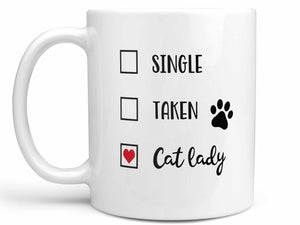 Single Taken Cat Lady Coffee Mug