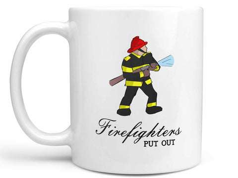 Firefighters Put Out Coffee Mug