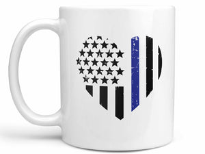 Police Heart Coffee Mug