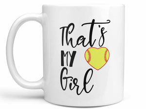 That's My Girl Softball Coffee Mug