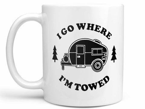 I Go Where I'm Towed Coffee Mug