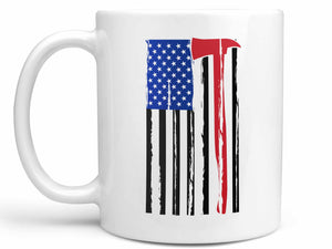 Firefighter Axe Flag Coffee Mug