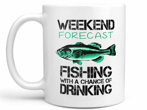 Weekend Forecast Fishing Coffee Mug