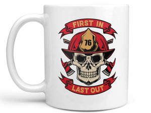 First In Last Out Coffee Mug