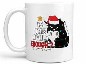 Jolly Cat Christmas Coffee Mug