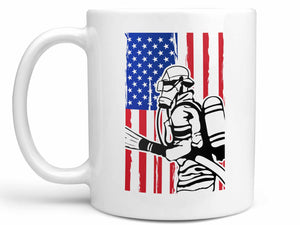Firefighter Flag Coffee Mug
