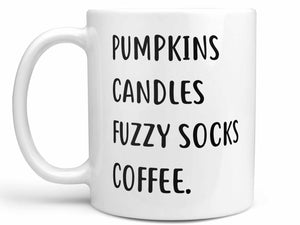 Pumpkins Candles Fuzzy Socks Coffee Mug,Coffee Mugs Never Lie,Coffee Mug