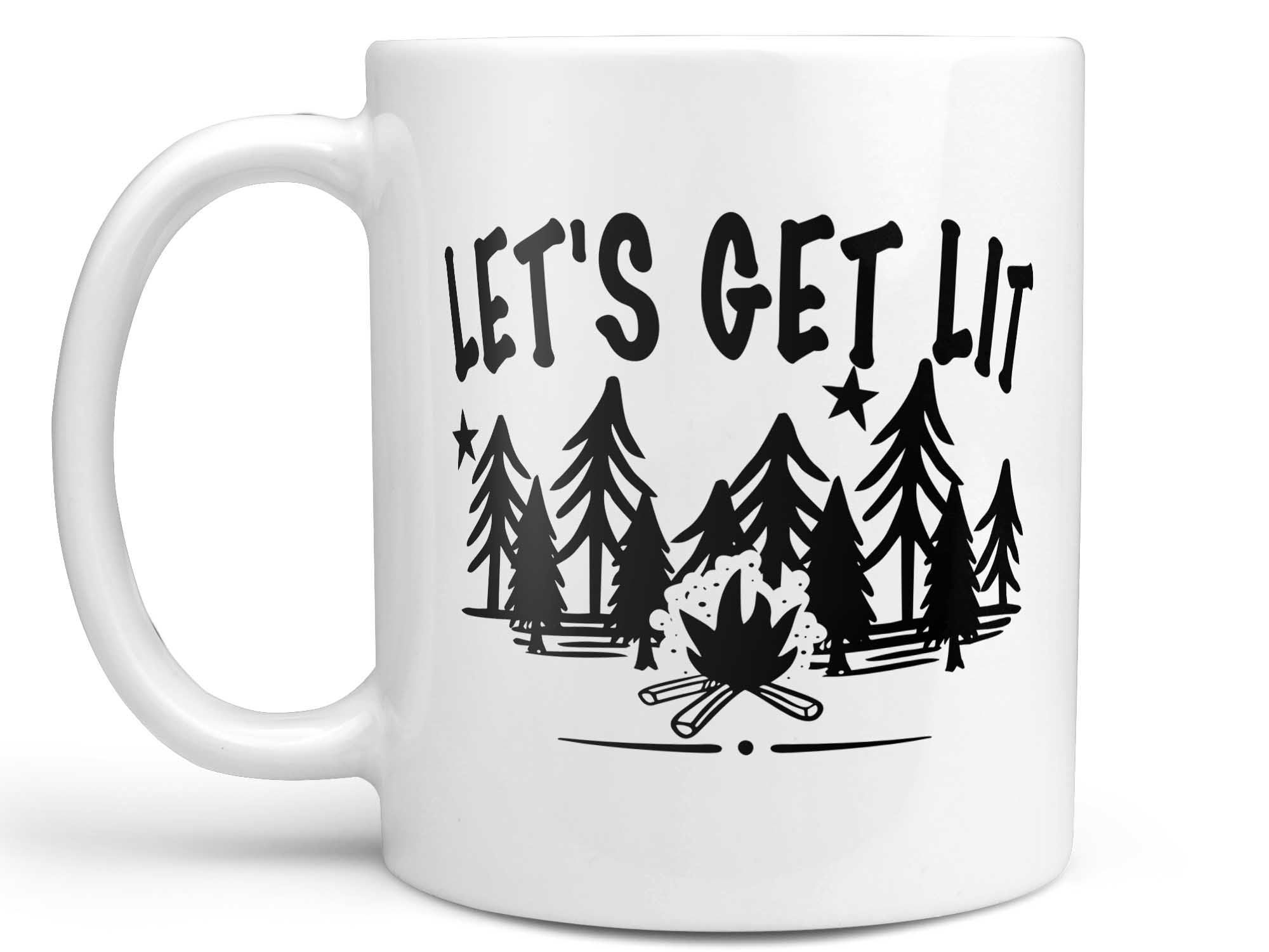Let's Get Lit Camping Coffee Mug,Coffee Mugs Never Lie,Coffee Mug