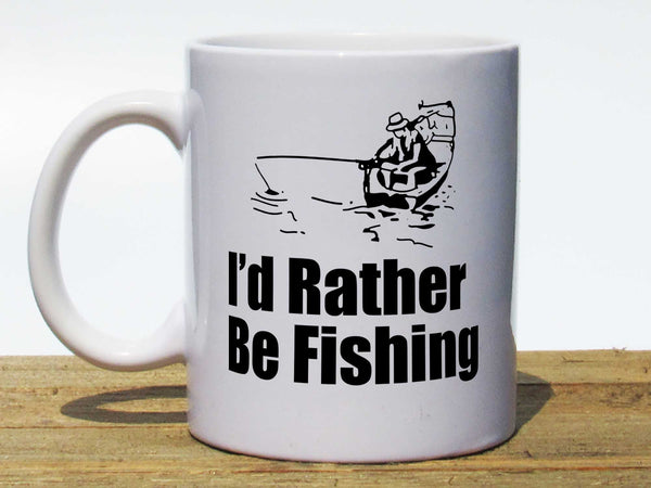 I'd Rather Be Fishing Coffee Mug,Coffee Mugs Never Lie,Coffee Mug