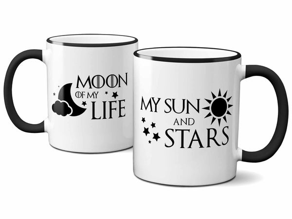 His and Hers Moon and Sun Mugs,Coffee Mugs Never Lie,Coffee Mug