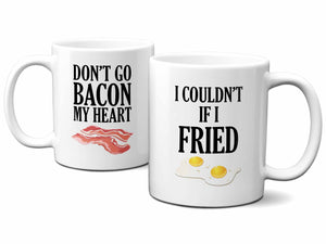 Bacon and Eggs Couples Coffee Mug Set,Coffee Mugs Never Lie,Coffee Mug