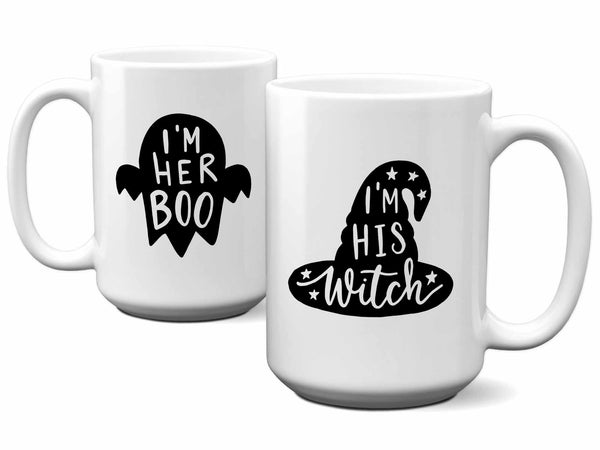 Her Boo His Witch Couples Mug Set