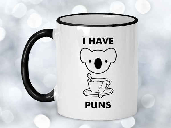 Koala Tea Puns Coffee Mug,Coffee Mugs Never Lie,Coffee Mug