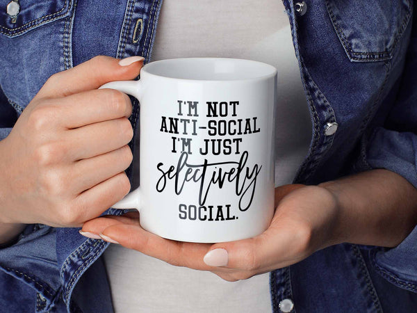 Selectively Social Coffee Mug,Coffee Mugs Never Lie,Coffee Mug