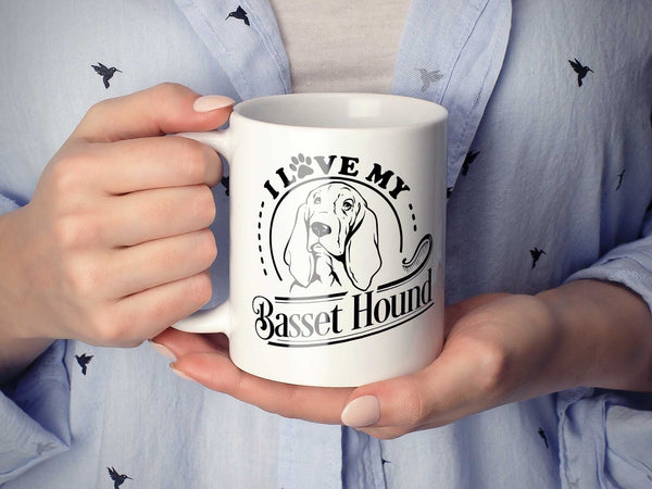 I Love My Basset Hound Coffee Mug,Coffee Mugs Never Lie,Coffee Mug