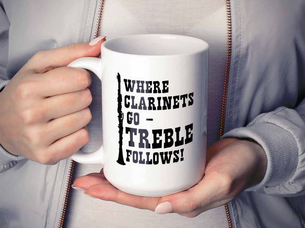 Treble Follows Clarinet Coffee Mug