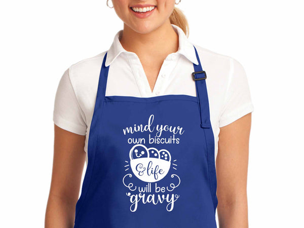 Mind Your Own Biscuits Apron