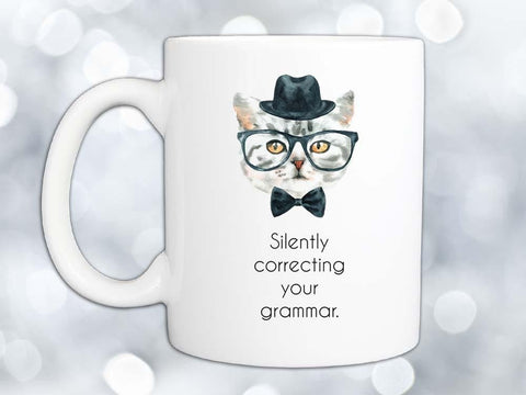 Silently Correcting Your Grammar Coffee Mug,Coffee Mugs Never Lie,Coffee Mug